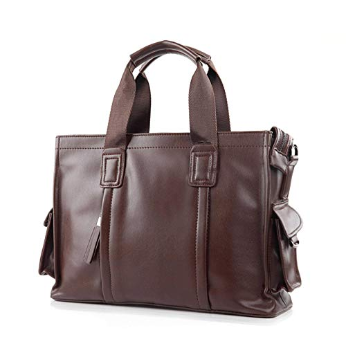 N-B Luxury Classic Business Men's Handbag Shoulder Bag Briefcase Men's Business Messenger Bag Business Trip Document Bag Men's Travel Bag Zipper Pocket