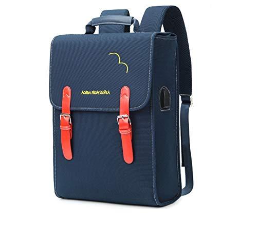 Ammon Lowen Laptop Rucksack 15,6 Zoll/14Zoll Wasserdicht Herren Damen Schule Backpack Mit USB Ladeanschlussund Strapazierfähig Oxford Notebook Schulrucksack für Geschäft Wandern Reisen