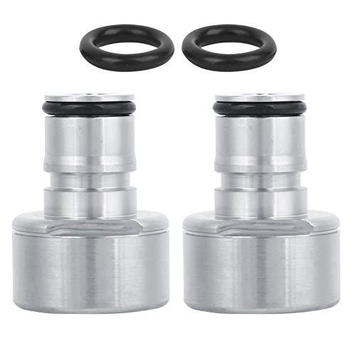 YOPOTIKA 2 Stück/Los Schnellkupplungs-Umrüstsatz Kugelverriegelungspfosten-Fasskupplungsadapter für Das Selbstbrauen von Bierfasssystem Silber