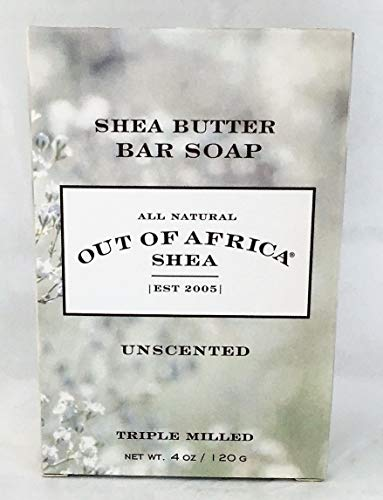 Out of Africa Shea Butter bar Soap, Unscented, 3 Pack