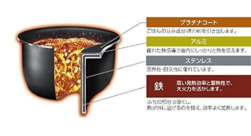 象印圧力IH炊飯ジャー(5.5合炊き)ブラックZOJIRUSHI極め炊きNW-JW10-BA
