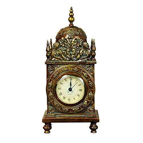 HYY-YY Family klokken klok op de schoorsteenmantel, silent-non tikkende decoratie for woonkamer nachtkastmodus geschikt for woon- en slaapkamer kantoor