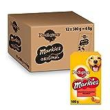 Pedigree Markies Galletas para Perro Rellenas (Pack de 12 x 500g)