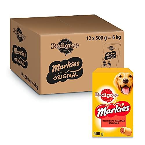 Pedigree Markies Galletas para Perro Rellenas (Pack de 12 x 500g) 🔥