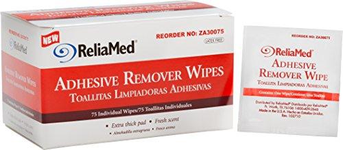ZA30075 - ReliaMed Adhesive Remover Wipe 1-1/4 x 3 (75/Box)