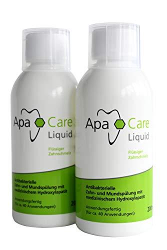 ApaCare Liquid 2 Flaschen | Die Mundspülungmit Hydroxylapatit | Künstlicher Zahnschmelz | gegen Mundgeruch | antibakteriell | Schutz vor Karies und Parodontitis | 2x 200 ml…