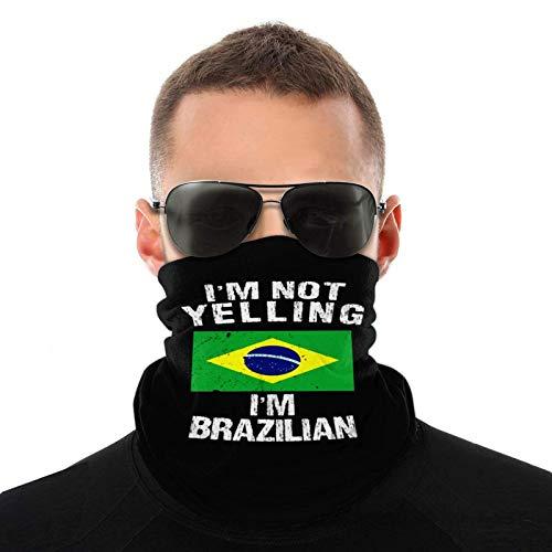 fenrris65 IM Not Yelling IM Brazilian Unisex Neck Gaiter Windproof Scarf Balaclava Face Mask