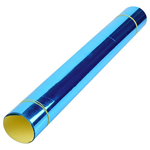 Fditt Espejo Azulejo Pegatinas de Pared de Papel Cuadrado Autoadhesivo Cuarto de Baño Decoración Stick en Arte 50 * 100 cm
