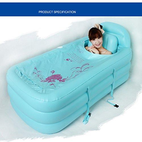 Aufblasbare aufblasbare Badewanne Badewanne Badewanne Badewanne Badewanne für Badewanne Badewanne ( Color : Blue , Edition : Electric pump )