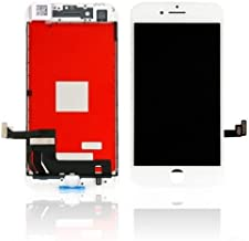 Touch Screen LCD Glass Display Screen Digitizer Assembly Replacement for iPhone 8 White with Free Repair Tool Kits & Screen Protector Film
