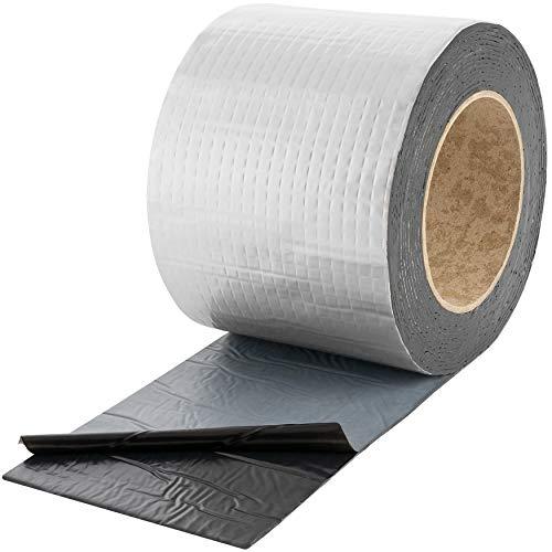 Poppstar Alu Butyl Klebeband (5 m x 100 mm x 1,5 mm) Aluminium Dichtband selbstklebend