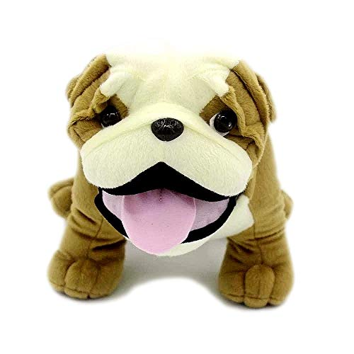 VACHICHI Stuffed Animal Dogs Lifelike Plush Toy Puppy, 12' English Bulldog
