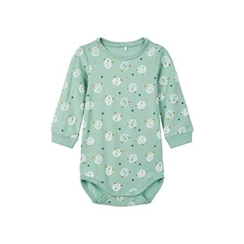 NAME IT - Body de algodón orgánico para bebé Verde/ahorro de campo. 68