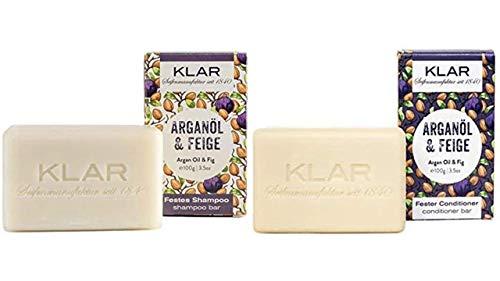 Klar's - Bar Shampoo - Arganöl & Feige - festes Shampoo - für trockenes Haar (Shampoo & Conditioner)