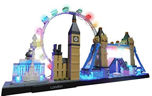 Brick Loot LED Lighting Kit for Lego London England Architecture Skyline - 21034 (Lego Set NOT Included)