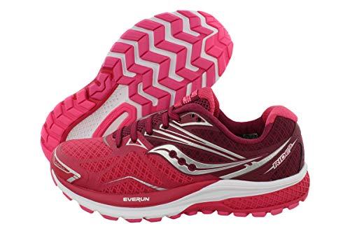 Saucony Women's Ride 9 Running Shoe, Pink/Berry, 9.5 M US