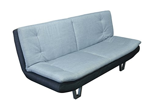 3 Seater Fabric Sofabed Available in 2 Duo-Contrast Colour Options (Grey/Charcoal, Fabric)