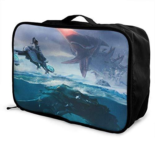 Subnautica Travel Lage Duffel Bag Lightweight Suitcase Portable Bags for Women Men Kids Waterproof Large Bapa Caity