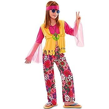 EUROCARNAVALES Disfraz de Hippie Rosa para niña: Amazon.es ...