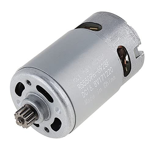 LITOSM Motor DC Corriente Continua Motor 1 2V / 16.8V / 21V / 25V 19500 RPM Motor con Dos Dientes de Dos velocidades y Caja de Engranajes de Alto Torque para Taladro eléctrico