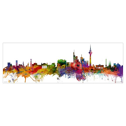 Close Up Berlin Skyline Poster Michael Tompsett (91,5cm x 30,5cm) + Ü-Poster