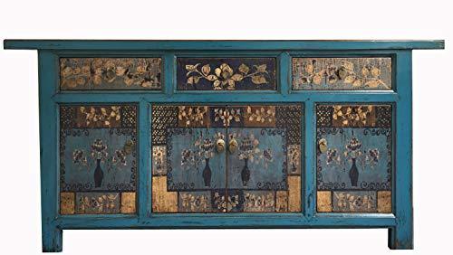 OPIUM OUTLET Asia - Aparador, color azul y multicolor
