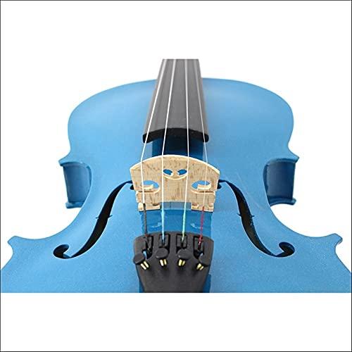 SHANDZ Violín de madera contrachapada de tilo azul para estudiantes en violín de piano de alta gama recomendado para principiantes (color: marrón, tamaño: 3/4)