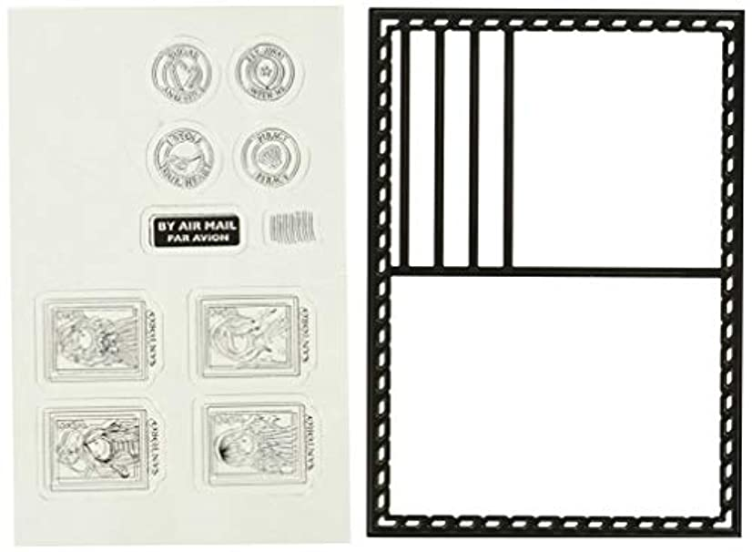 DOCrafts Postcard Die & 10 Rubber Stamps Santoro's Gorjuss Die & Stamp Set