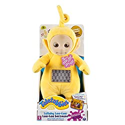 The popular LaaLaa from the Teletubbies TV series as a plush toy with music box function High-quality, cuddly soft plush Gentle light effects that accompany the child when they fall asleep Soothing music encourages falling asleep Contents: 1 Lullaby ...