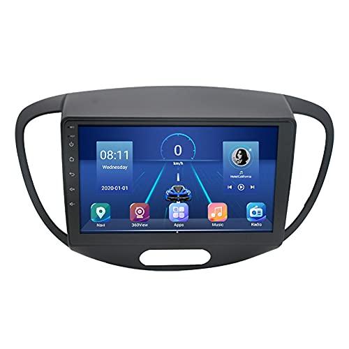 Kilcvt 9 Inauto Stereo Video GPS Navigation Android 10 Car Radio Reproductor Multimedia, para Hyundai Grand I10 2008-2012 Soporte De Control del Volante/Bluetooth (para 4g + 64g)