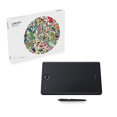 Wacom Intuos Pro Digital Graphic Drawing Tablet for Mac or PC, Medium, (PTH660) New Model,Black