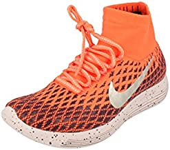 Nike Womens Lunarepic Flyknit Shield Running Trainers 849665 Sneakers Shoes (UK 4.5 US 7 EU 38, Bright Mango Metallic Silver 800)