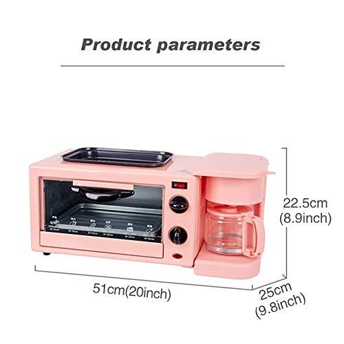 41Smp8cJQCL - Qinmo E-Ofen, Multifunktions-Frühstück Maschine, Non-Stick Bratpfanne Sandwich Hot Dog Toast Pizza Spiegelei Home Küche Elektro-Ofen (Farbe: Schwarz) (Farbe: Schwarz) (Größe: Pink), Größe: Rosa