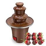 PiscatorZone Chocolate Fountain Machine Electirc Chocolate Fondue Set Stainless Steel Fondue Heat Motor Controls