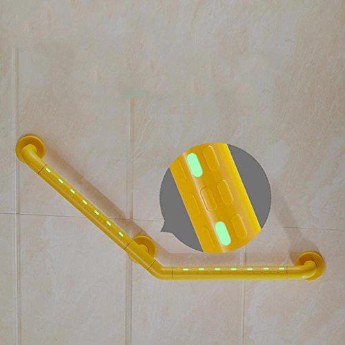 HZZymj-Escalier sans barrière de 135 degrés salle de bain salle de bain salle de bain baignoire lumineuse toilette ancienne main courante de sécurité en acier inoxydable , Orange 42cm * 60cm
