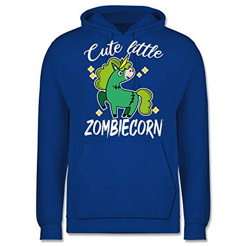 Shirtracer Halloween - Cute Little Zombiecorn - weiß - XXL - Royalblau JH001 - Herren Hoodie und Kapuzenpullover für Männer