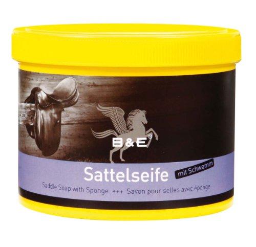 B & E Sattelseife mit Schwamm - 500 ml