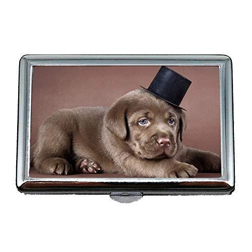 Zigarettenetui/Box, EIN halber Hund Labrador Hund hd, Business Name Kartenhalter