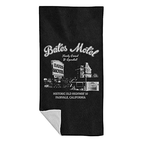 Cloud City 7 Psycho Bates Motel Family Owned and Operated Beach Towel
