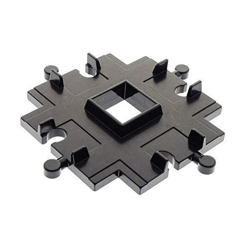 Bausteine gebraucht 1 x Lego Duplo Schiene Kreuzung Schwarz Verbindung Eisenbahn Schiebe Zug für Set 2714 9154 9153 4646