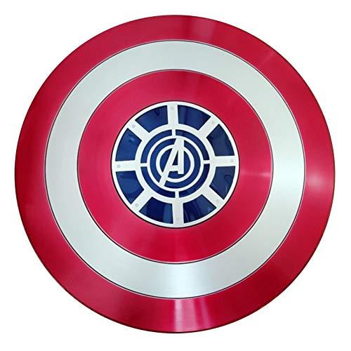 Escudo De Vestuario De Capitn Amrica Serie Avengers Legends Apoyos Para Adultos Cosplay Escudo De Mano De La Pelcula Edicin Talla nica 57Cm Without light,57cm