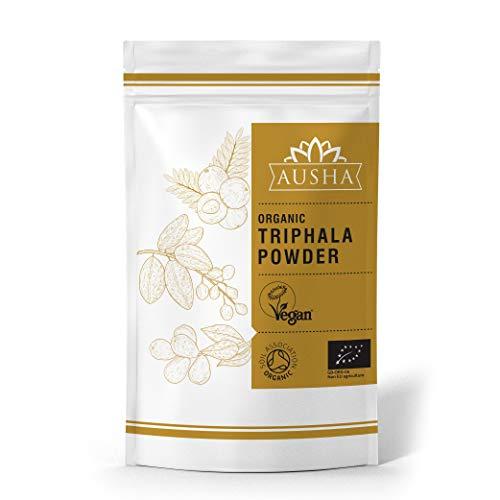 AUSHA Organic Triphala Powder 250g - (Certified Organic by Soil Association,Vitamin C,Aid Digestion,Support Bowel Health, Detoxify Body, Immunity)