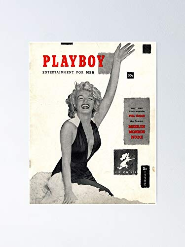 """Playboy Magazine - M-a-r-i-l-y-n M-o-n-r-o-e Poster 12.75"""" X 17"""" Inch No Frame Board for Office Decor, Best Gift Dad Mom Grandmother and Your Friends"""