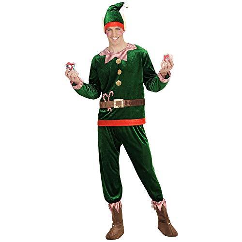 WIDMANN- Elfo Aiutante di Babbo Natale Costume Uomo, Multicolore, (L), 8733