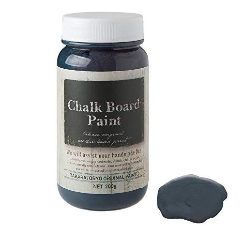 選べる13色 TAKARAチョークボードペイント 各色 200g 塗るだけで黒板になる黒板塗料 (ダークブルーベリー) タカラ塗料