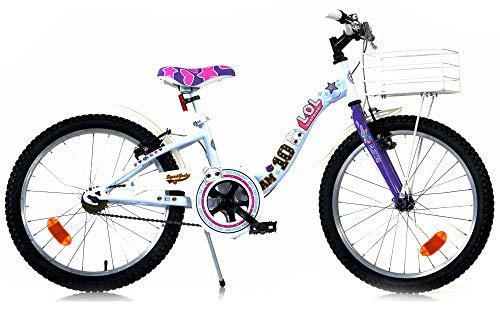 Dino Bikes - Bicicletta LOL 20' bambina Bianca e Viola