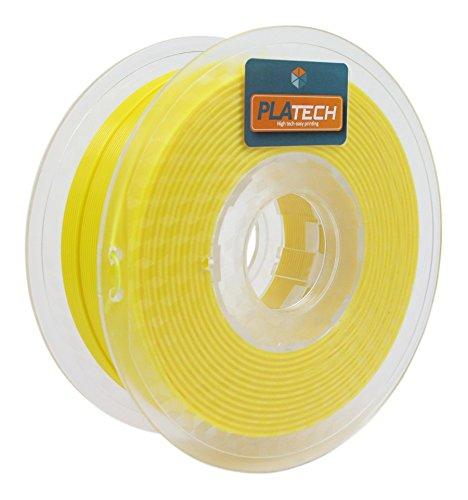 FFFworld 1 kg. PLA Tech Amarillo 1.75 mm. - Filamento PLA 1.75 con bobinado de precisión Optiroll - PLA Filament