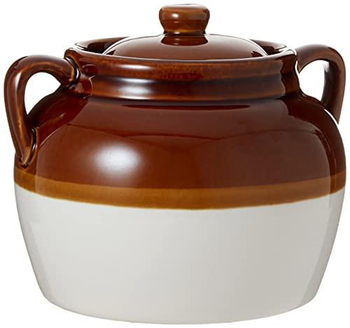 4.5-Quart Large Ceramic Bean Pot with Lid