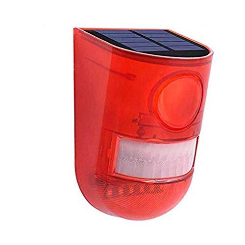 1 unids alarma de sonido luz estroboscópica Control remoto Solar Powered impermeable 129db 8 LED luz roja para plantación de té, villa, fábrica, almacén, hoteles