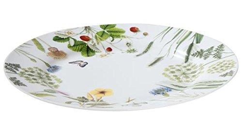 Gilde Plaque/Assiette Porcelaine avec des fleurs et papillons \